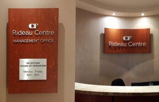 Custom 3D signs for CF Rideau Centre