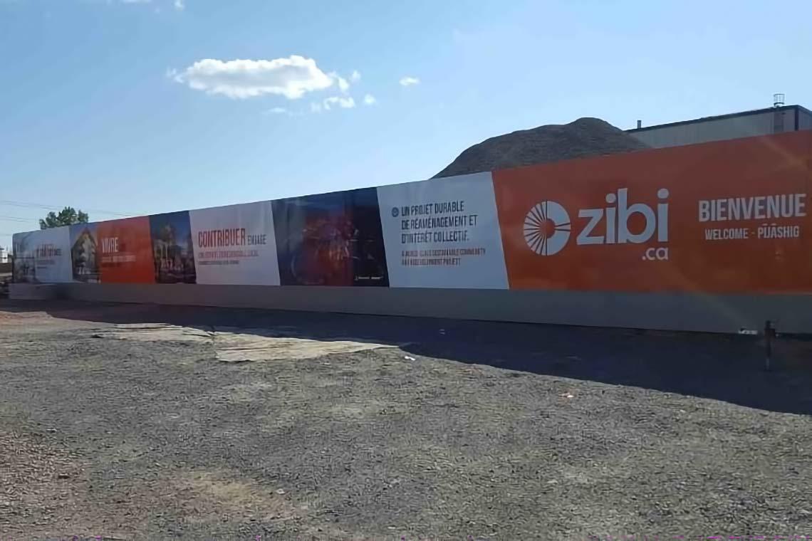 Construction Hoarding - Zibi