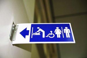 Wayfinding Bathroom Sign