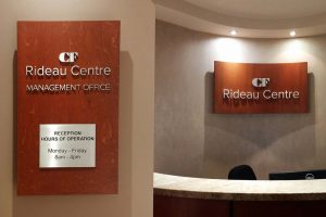 Custom 3D signs for CF Rideau Centre