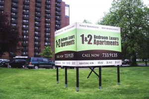 Billboard Sign for Apartment Rental