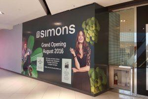 Construction Hoarding for Simons