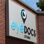 Channel lettering signage for EyeDocs Ottawa