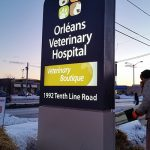 Pylon Sign for Orléans Veterinary Hospital