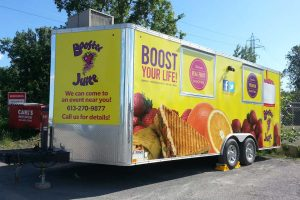 Vehicle wrap for Booster Juice